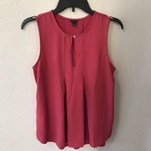 Ann Taylor Dark Pink Sleeveless Blouse- XS